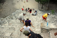 Tourists in Coba (Mexico) Royalty Free Stock Photo