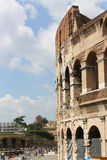 Tourists at coliseum - Rome Stock Photography