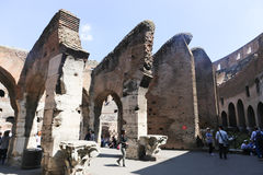 Tourists at Coliseum - Rome Royalty Free Stock Photo