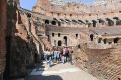 Tourists at Coliseum - Rome Stock Photos