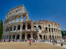 Tourists Colosseum Rome Stock Images