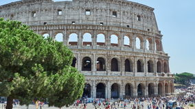 Tourists Colosseum Rome Time lapse stock footage