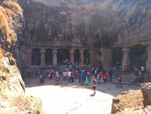 Tourists Come`s From Long Distance To Visit Elephanta Cave, Situated On Island Near Mumbai. stock photography