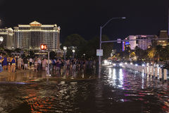 Tourists cope with flooding in Las Vegas, NV on July 19, 2013 Stock Photos