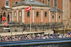 Tourists in Copenhagen Royalty Free Stock Photo