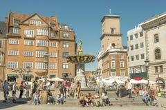 Tourists in Copenhagen. Royalty Free Stock Photos