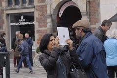TOURISTS IN COPENHAGEN Stock Images