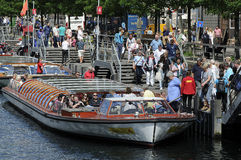 TOURISTS IN COPENHAGEN Stock Photos