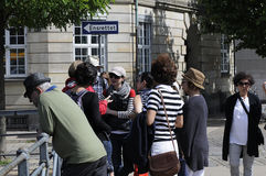 TOURISTS IN COPENHAGEN Stock Photo