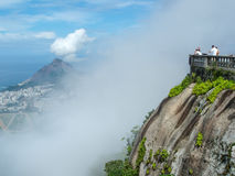 Tourists on Corcovado peak Stock Photos