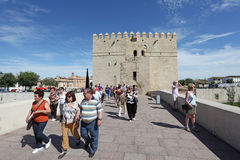 Tourists in Cordoba, Spain Stock Photo