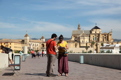 Tourists in Cordoba, Spain Stock Photos