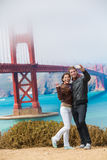 Tourists couple taking selfie photo San Francisco Royalty Free Stock Image