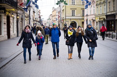 Tourists in Cracow Poland Stock Image