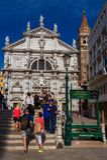 Visiting Venice historic center stock photos