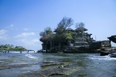 Tanah lot sea temple bali indonesia royalty free stock image