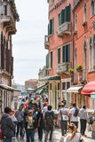 The tourists crowd, Venice Royalty Free Stock Images