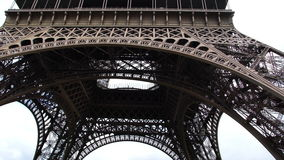 Tourists crowded at Eiffel Tower stock video footage