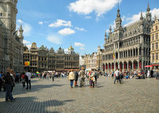 Tourists crowded  Grand Place Stock Photo