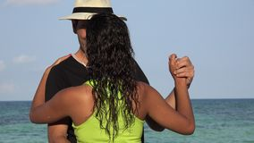 Tourists Dancing On Summer Vacation. Stock video in 4k or HD resolution stock video footage