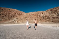 Tourists in Death Valley National Park Royalty Free Stock Image