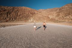 Tourists in Death Valley National Park Stock Photos