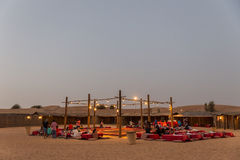Tourists Desert Camp for Experienced The Show in Desert at Dubai Stock Image