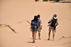 Tourists in the desert Stock Photos