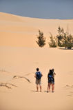 Tourists in the desert Stock Photography