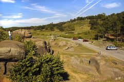 Tourists at Devil's Den Gettysburg Battlefield Pennsylvania Royalty Free Stock Image