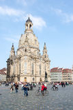 Tourists at Dresden Frauenkirche Stock Photography