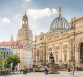 Tourists in Dresden Royalty Free Stock Photo