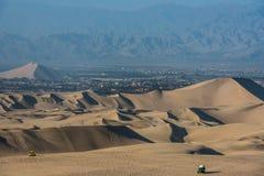 Tourists dune buggies peruvian coast at Ica Peru Royalty Free Stock Photography