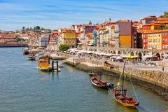 Tourists on Duoro River Embankment. Porto Royalty Free Stock Photography