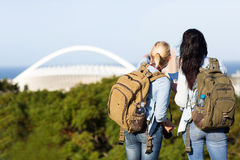 Tourists in Durban. Two tourists touring in Durban, South Africa Royalty Free Stock Photos