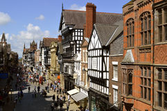 Tourists on Eastgate street in Chester Stock Image
