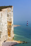 Tourists at the egde of the cliffs at Beachy Head Royalty Free Stock Photography