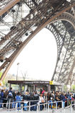 Tourists at Eiffel Tower Stock Images