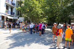 Tourists Enjoy at Athens, Greece Royalty Free Stock Photo