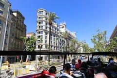 Tourists enjoy bus trip Royalty Free Stock Images