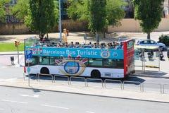 Tourists enjoy bus trip Royalty Free Stock Photo