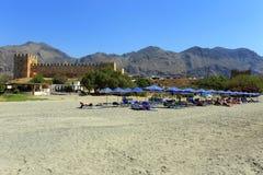 Tourists enjoy Crete Stock Images