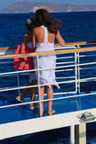 Tourists enjoy cruise trip - Greece Royalty Free Stock Image