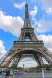Tourists enjoy at Eiffel Tower - Paris Royalty Free Stock Photos