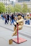 Tourists enjoy the performance show in Trafalgar Square in London, UK. stock image