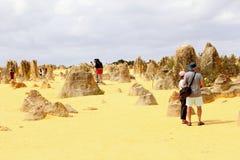 Tourist recreation in the Pinnacles desert, Nambung National Park, Western Australia Stock Image