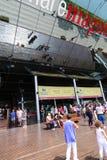 Tourists Enjoy at Port of Barcelona Royalty Free Stock Image