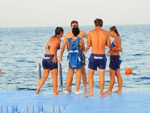 Tourists enjoy at Red Sea - Sharm Elshiekh - Egypt Stock Image