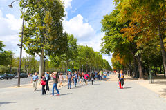 Tourists Enjoy and stroll at Paris Royalty Free Stock Images