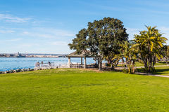 Tourists Enjoy View of San Diego Bay from Overlook Royalty Free Stock Photo